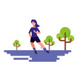 woman riding roller skate natural outdoor vector image