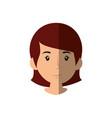 woman smiling cartoon vector image vector image