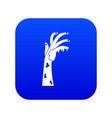 zombie hand icon digital blue vector image vector image