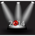 2014 beauty Christmas and New Year background vector image