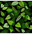 Abstract leaves pattern vector image vector image