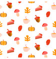 autumn harvest objects pumpkin acorn pie vector image vector image