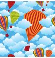 balloon seamless pattern vector image vector image