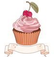 Beautiful cupcake vector image vector image