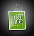 Best price signs hanging with chain vector image