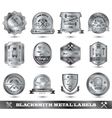 Blacksmith Metal Label vector image vector image