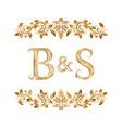 bs vintage initials logo symbol letters b vector image