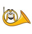 cartoon a french horn vector image