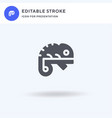 chameleon icon filled flat sign solid vector image vector image