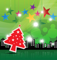 christmas festival background in city vector image vector image