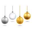 christmas tree toys realistic transparent glass vector image vector image