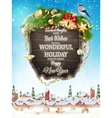 Christmas Wooden banner EPS 10 vector image vector image