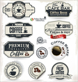 Coffee labels and badges vector image vector image