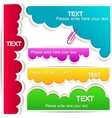 Colorful bubble for speech vector image