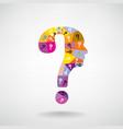 colorful question mark man head symbol vector image