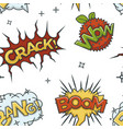 crack wow and boom comic sounds visualization vector image vector image
