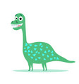 cute dinosaur cartoon drawn for tee print vector image vector image