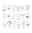 cute monsters set hand drawn collection with vector image vector image