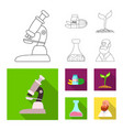 design of genetic and plant icon vector image vector image