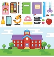 Education School University Flat vector image vector image