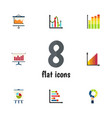 flat icon chart set of statistic graph diagram vector image vector image