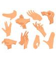 hands gestures set hands in vector image