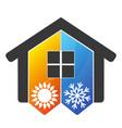 home air conditioner symbol vector image vector image