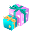 icon gift box vector image vector image