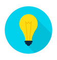idea lamp flat circle icon vector image vector image