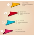 Infographic working experience for your buisness vector image