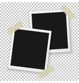Instant Photo Vintage Photo Frame Mockup vector image vector image