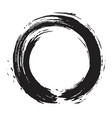 Japanese enso zen black ink logo art design