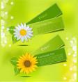 leafy label vector image vector image