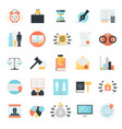 legal profession icons collection vector image