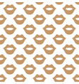 lips seamless art texture white beige color vector image vector image