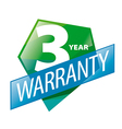 logo 3 year guarantee in the form of shield vector image