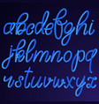 lowercase blue hand drawn 3d letters isolated on vector image vector image