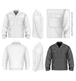 Men work jacket vector image vector image