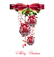 Merry Christmas balls vector image