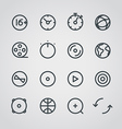 Modern media web icons collection