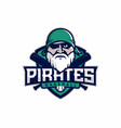 modern professional emblem pirates for baseball vector image vector image