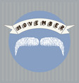 mustache and movember vector image vector image