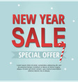 new year sale banner with candy vector image vector image