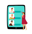 online dating concept vector image vector image