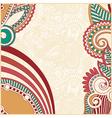 ornate flower background design vector image vector image