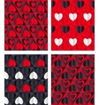 Paper Hearts Seamless vector image vector image