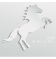 Paper horse vector image vector image