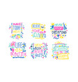 positive inspirational and motivational quotes vector image