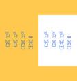 rabbit line art logo set vector image