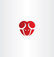red stylized ram icon vector image
